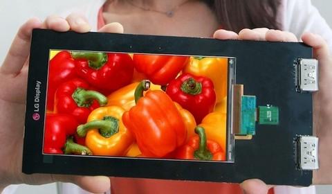 LG представила дисплей для смартфона с огромным разрешением 2560x1440