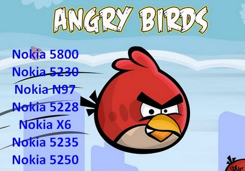 Angry Birds для Nokia 5800, 5230, 5530, N97 для Symbian 9.4, Anna, Belle - JAVA