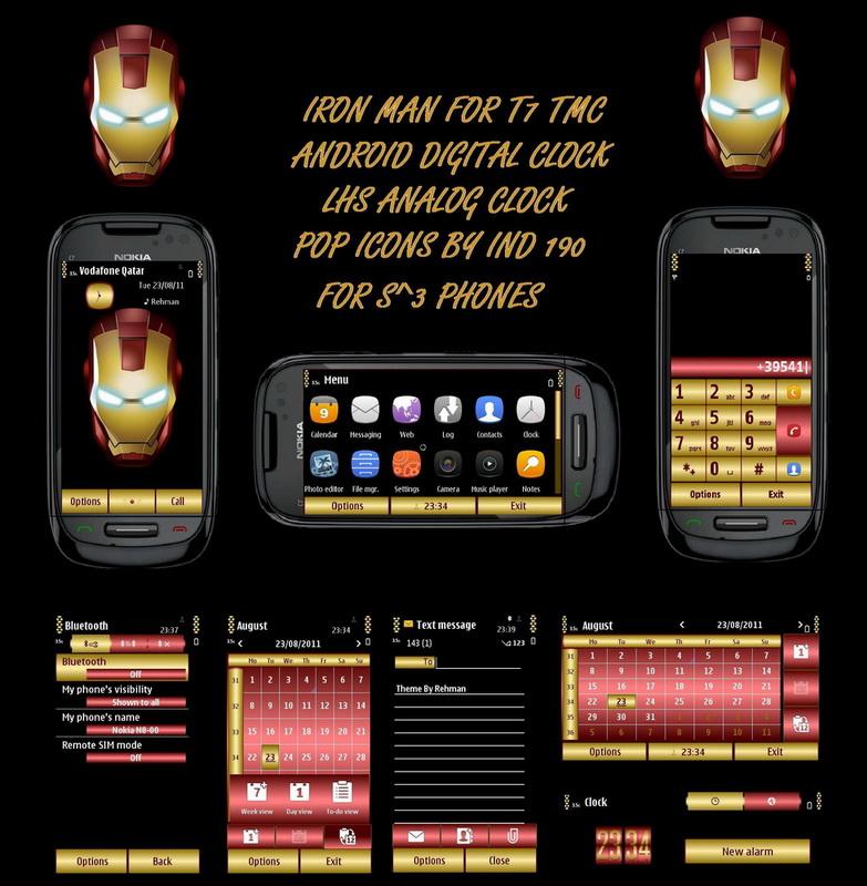 Темы для Symbian 9.4, ^3, Anna: Iron Man