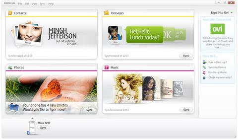Программы для PC: Nokia Ovi Suite 2.0