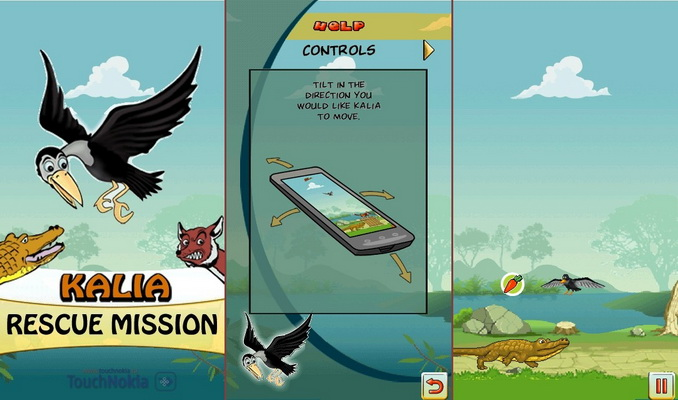 Игры для Nokia 5800 N97 (Mini) 5530 5230 X6: Kalia Rescue Mission v.1.0
