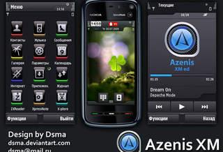 Темы для Nokia 5800 и Nokia N97: Azenis XM
